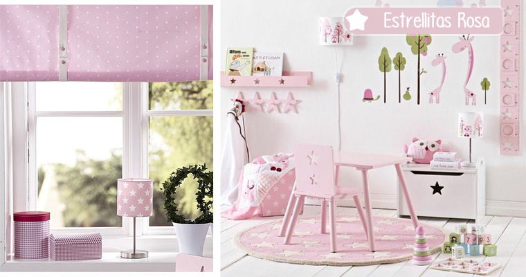 decoracion infantil estrellitas rosa